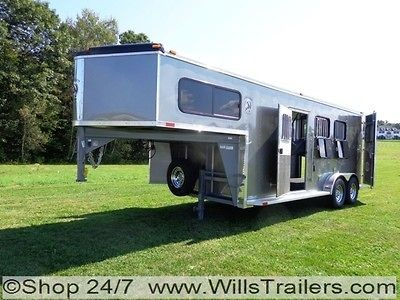 Horse Trailer ALUMINUM Slant Skin $184 Monthly. No Hidden Reserve