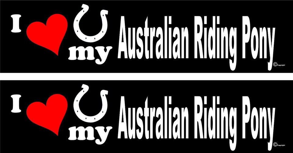 love my Australian Riding Pony horse trailer bumper stickers