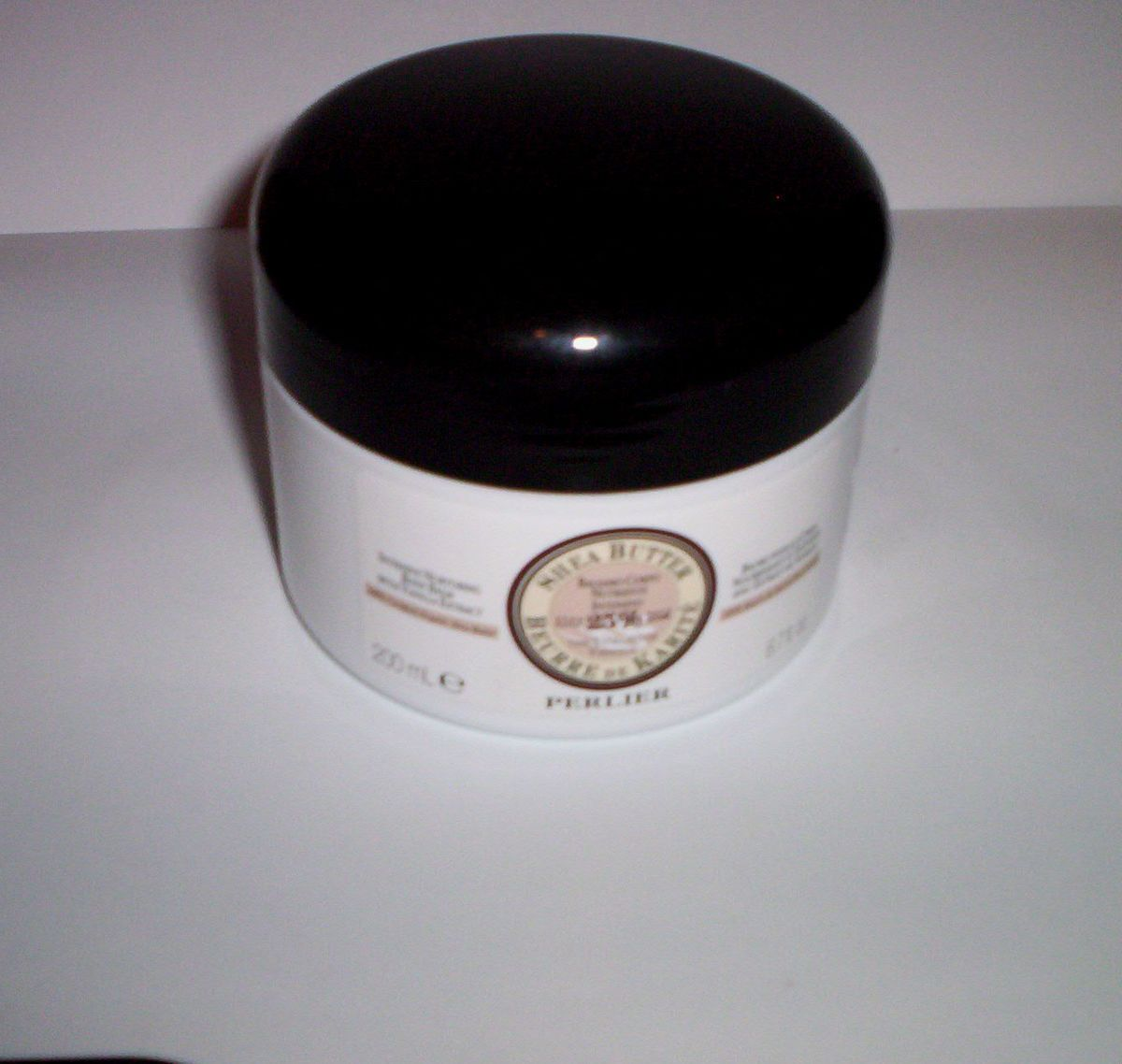 PERLIER 25% SHEA BUTTER BODY BALM CREAM WITH VANILLA EXTRACT 6.7 FL.OZ