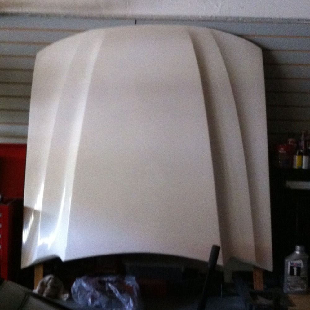Ford Mustang Cobra Style 2 1 2 Cowl Induction Fiberglass Hood