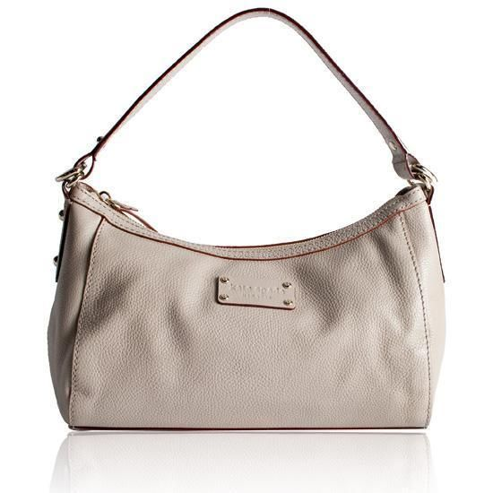 Kate Spade Gladys Darien Leather Satchel Taupe Gray