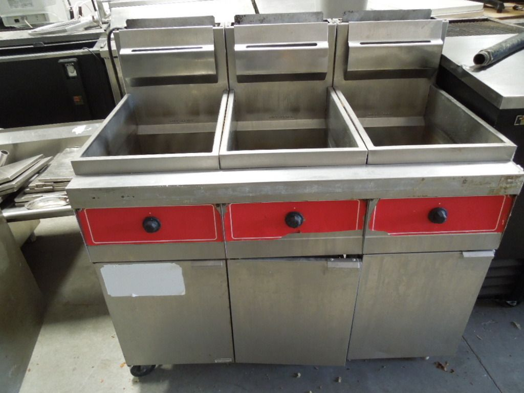 3 Station Gas Deep Fryer