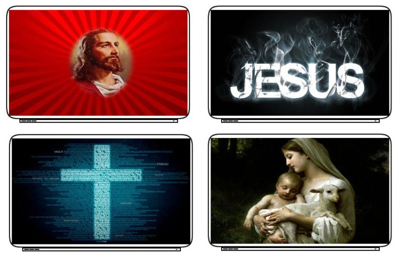 Christian Jesus Laptop Netbook Skin Decal Cover Sticker