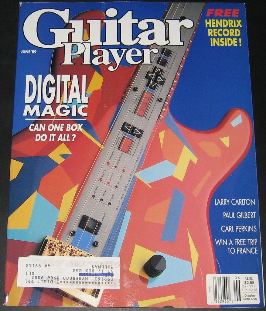 Guitar Player Magazine June 1989 Digital Magic , Larry Carlton