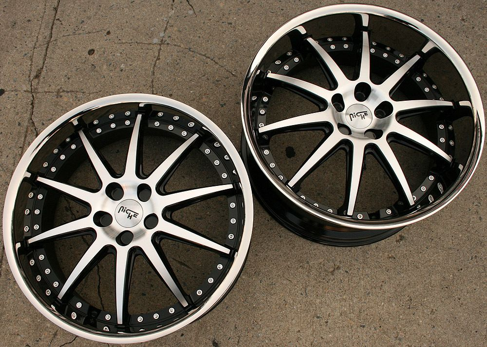 Niche Spa 22 Black Rims Wheels Mercedes CLS55 AMG 22 x 9 0 10 5 5H 15