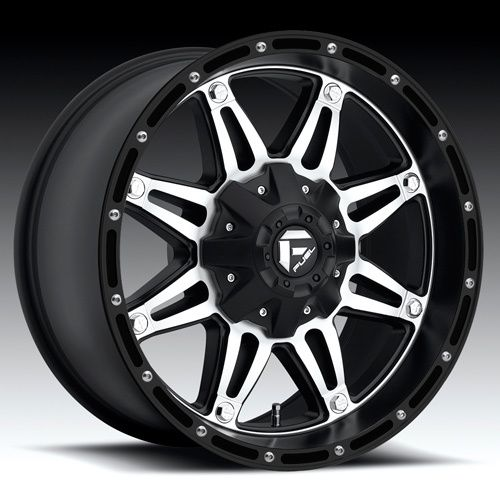 Fuel Hostage 17x9 Black Mach Wheels 8x6 5 Dodge GM Qty 4 Wheels