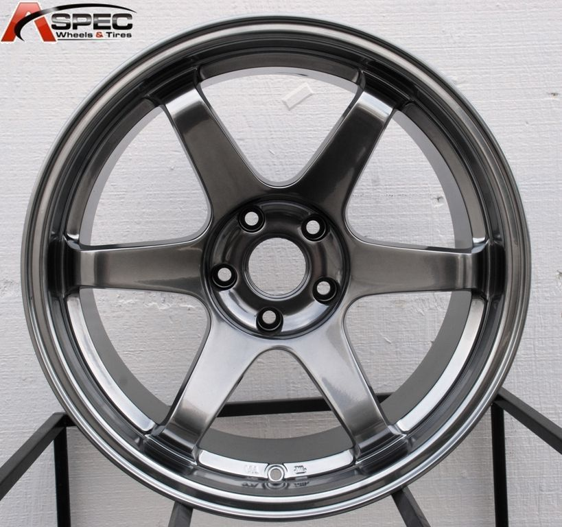 VARRSTOEN ES222 HYPER BLACK WHEELS FIT G35 G37 350Z 370Z 240SX 300ZX