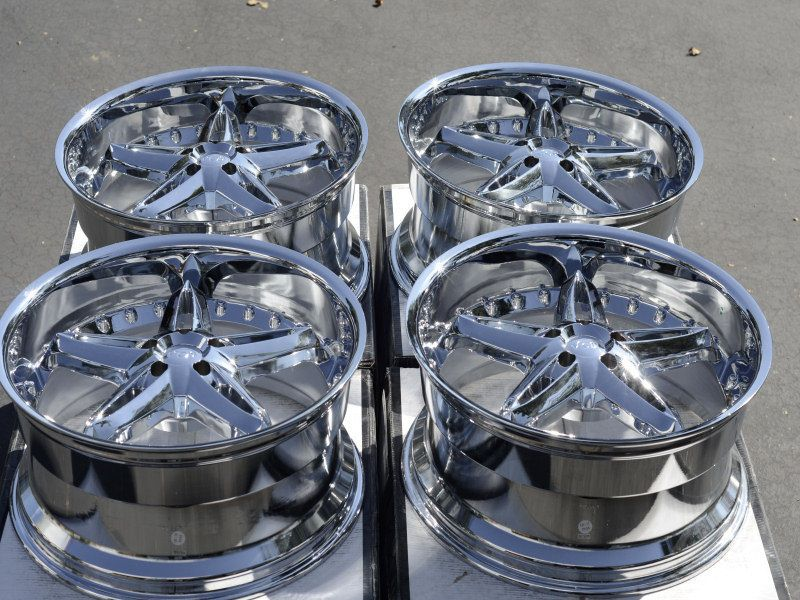 Chrome VCT Wheels Dodge Challenger Charger Magnum Chrysler 300 Rims